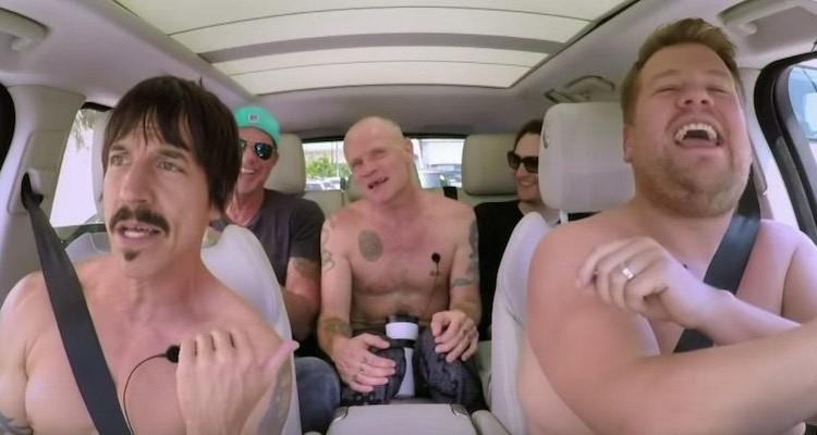 James-Corden-Carpool-Karaoke-Red-Hot-Chili-Peppers-Shirtless-1